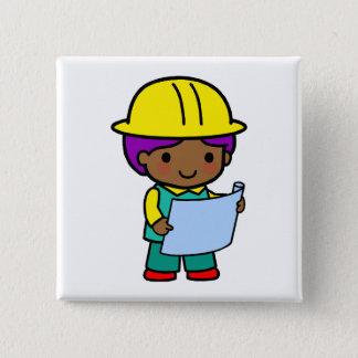 Architect Boy 2 Inch Square Button