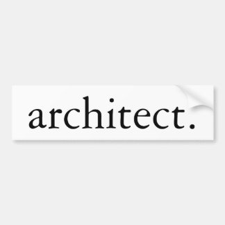 Architect Bumper Sticker