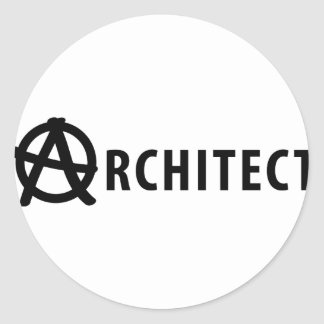 architect classic round sticker