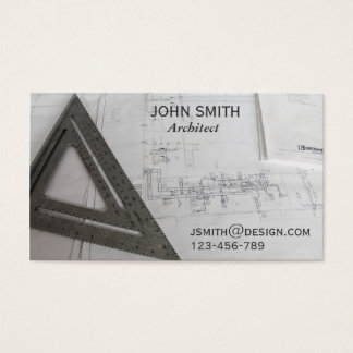 Architect design freelance designer business card