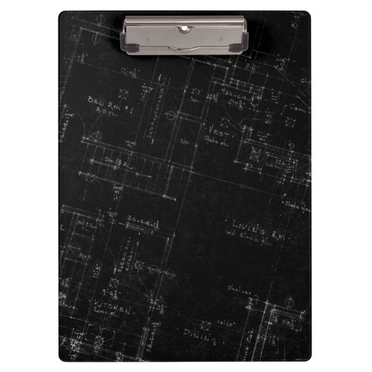 Architect Floor Plan Business Clipboard