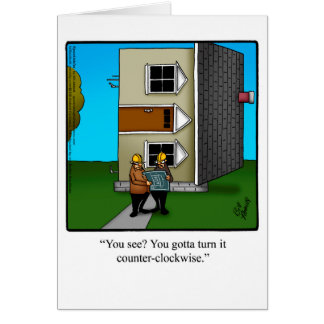 Architect Humour Greeting Card