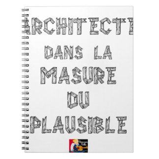 ARCHITECT, in the HOVEL OF the PLAUSIBLE one Notebooks