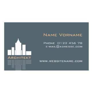 Architect Pack Of Standard Business Cards