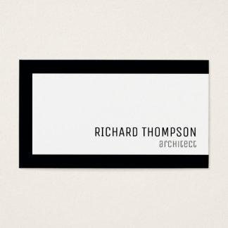 architect professional, black border, minimal business card