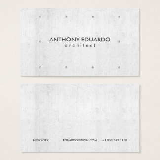 Architect professional modern gray concrete simple business card