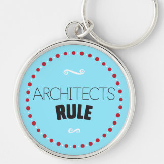Architects Rule Keychain – Blue