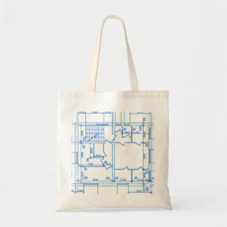 Architectural background budget tote bag