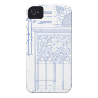 Architectural Blueprints Case-Mate iPhone 4 Cases