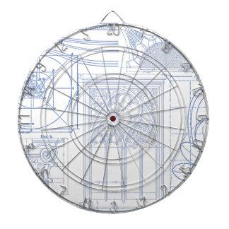 Architectural Blueprints Dartboard