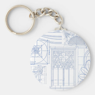 Architectural Blueprints Keychain