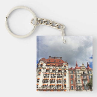 Architectural building in Stockholm Keychain