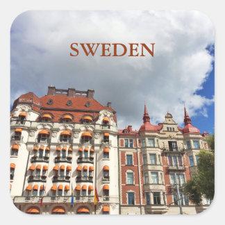 Architectural building in Stockholm Square Sticker