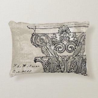 Architectural Column Accent Pillow