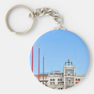Architectural detail in Venice, Italy Basic Round Button Keychain