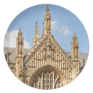 Architectural detail of Gothic window Dinner Plates