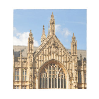 Architectural detail of Gothic window Notepad