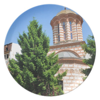 Architectural detail of old Romanian church Dinner Plate