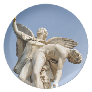 Architectural detail of statue in Berlin, Germany Plate