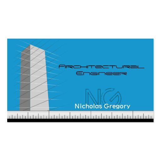 Architectural Engineering Blue Business Cards