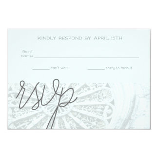 Architectural Grey and Faint Blue RSVP Card