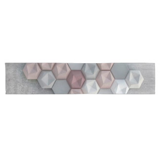 "Architectural Hexagons 14"" X 72"" Table Runner"