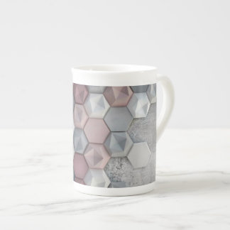 Architectural Hexagons Bone China Mug