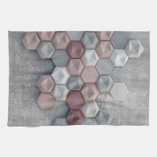 """Architectural Hexagons Kitchen Towel 16"""" x 24"""""""