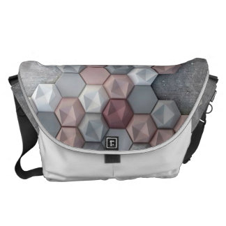 Architectural Hexagons Large Messenger Bag