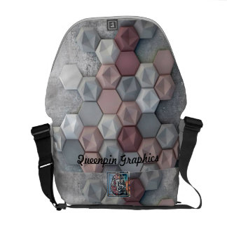 Architectural Hexagons Medium Messenger Bag