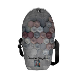 Architectural Hexagons Mini Messenger Bag