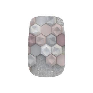 Architectural Hexagons Nail Art