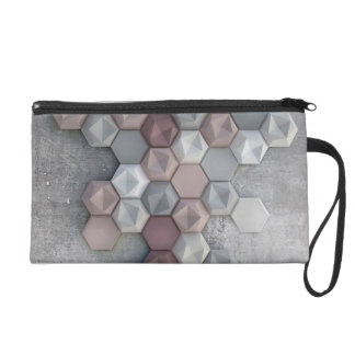 Architectural Hexagons Stationary or Makeup Bag