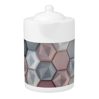 Architectural Hexagons Teapot 44 oz
