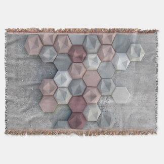 "Architectural Hexagons Throw Blanket 54""l x 38""w"
