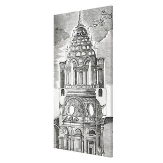 Architectural Illustration Gallery Wrapped Canvas