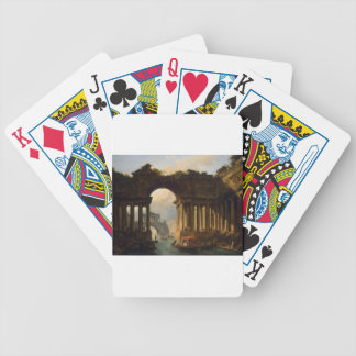 Architectural Landscape with a Canal by Hubert Bicycle Playing Cards