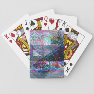 Architectural mosaic playing cards