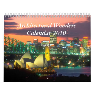 Architectural sights of the world calendar 2010