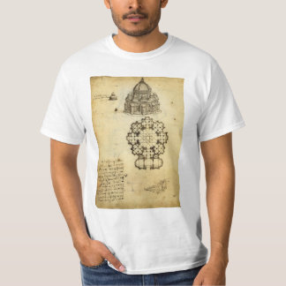 Architectural Sketch by Leonardo da Vinci T-Shirt