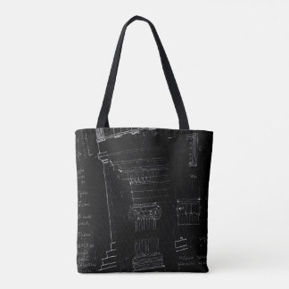 architectural sketch tote bag
