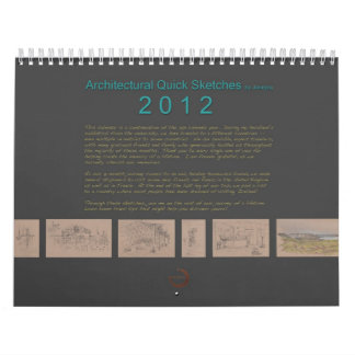 Architectural Sketches Calendar 2012 by Janejira