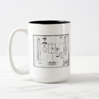 Architectural: U.S. Naval Air Station Two-Tone Coffee Mug