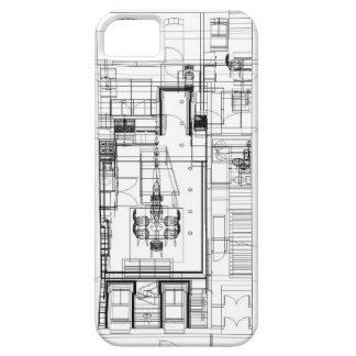 Architectural wireframe phone case