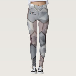 Architecturally Inspired 3D Hexagon Tights