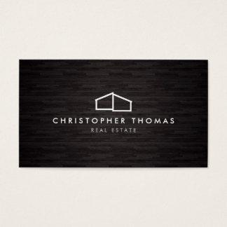 Architecture à la maison moderne de logo, bois du cartes de visite