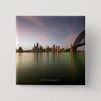 Architecture Australia Bridge Calm Cities City 2 Inch Square Button