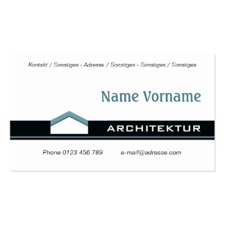 Architecture Bauhaus Pack Of Standard Business Cards