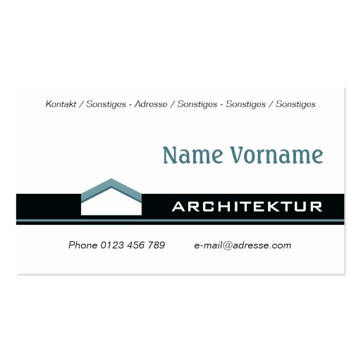 Architecture Bauhaus Business Card Templates