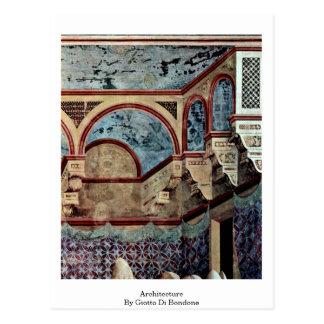 Architecture By Giotto Di Bondone Postcard